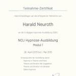 NOJ Hypnose Ausbildung Modul 1